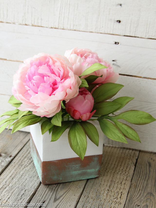 Faux Copper Patina Vase from The Happy Housie