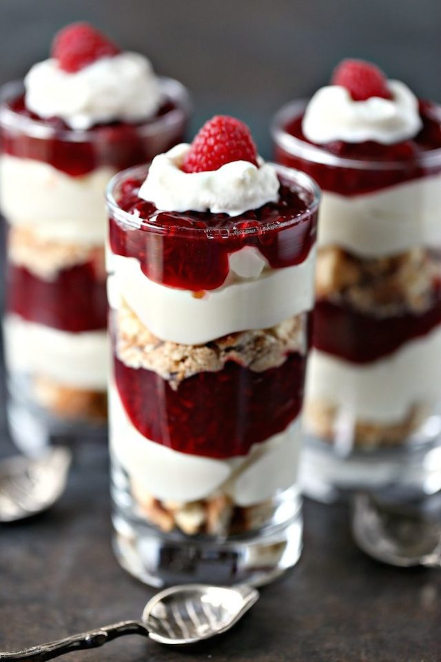 No Bake Lemon Raspberry Cheesecake Parfait from  Cravings of a Lunatic