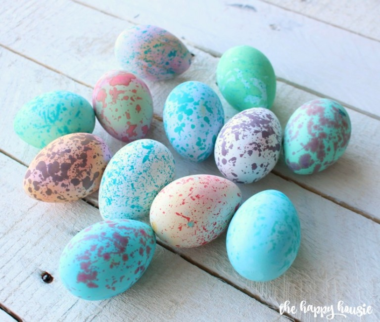 DIY Speckled Eggs from  The Happy Housie