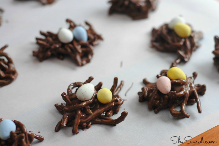 Nutella No-Bake Bird Nest Cookies from  All Because She Saved
