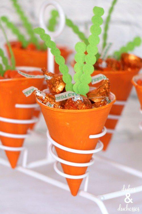 Carrot Treat Cones from  Dukes & Duchesses