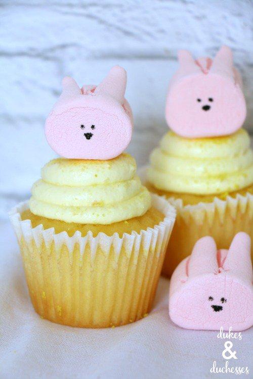Marshmallow Bunny Cupcakes from  Dukes & Duchesses