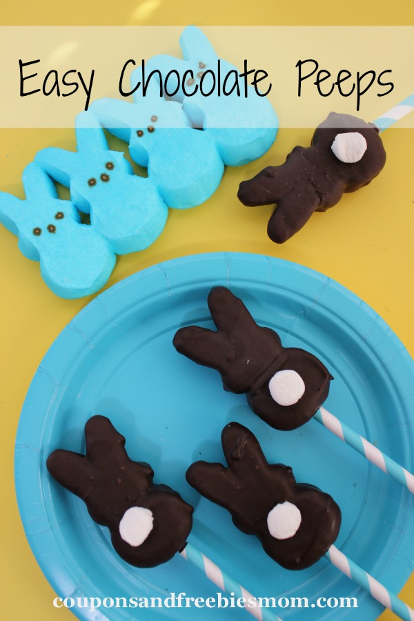 Easy Chocolate Peeps from  Coupons and Freebies Mom