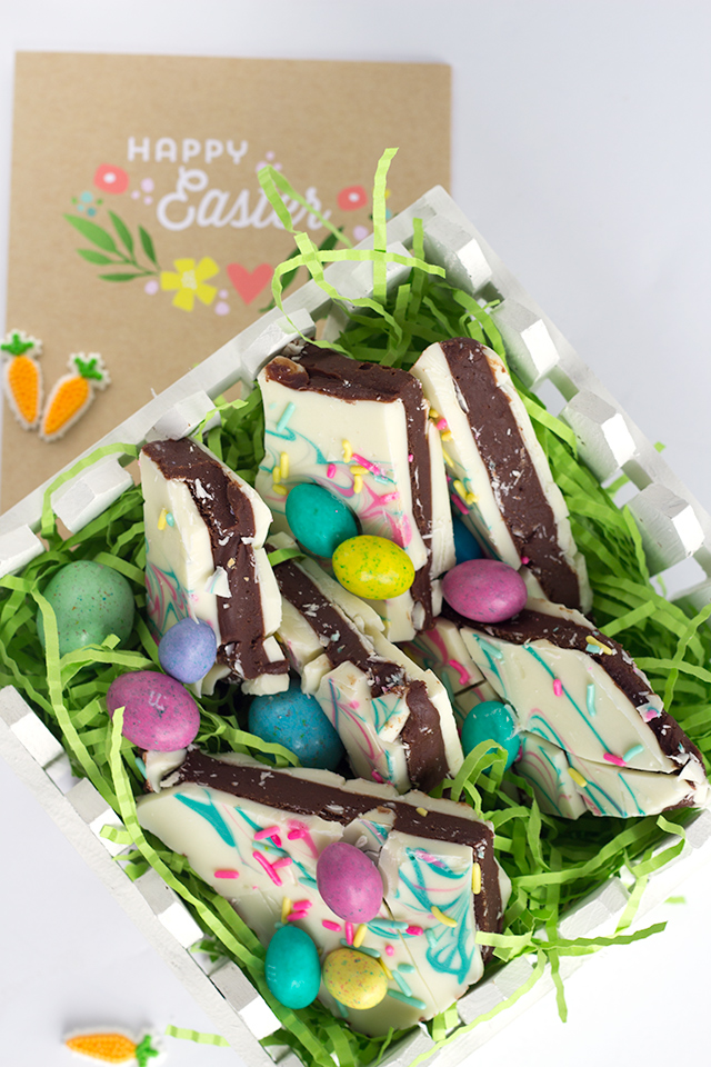 Easter Truffle Bark from  Cookie Dough and Oven Mitt