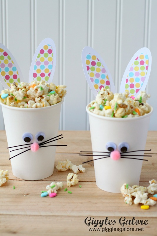 Easter Bunny Cups and Bunny Bait from  Giggles Galore