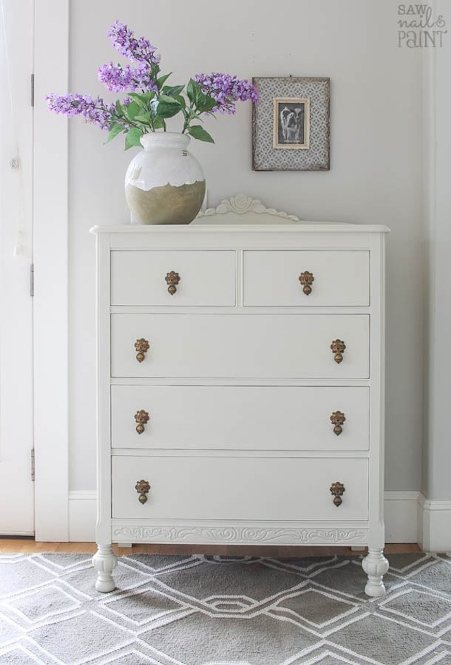 Dresser Makeover from  Saw Nail & Paint