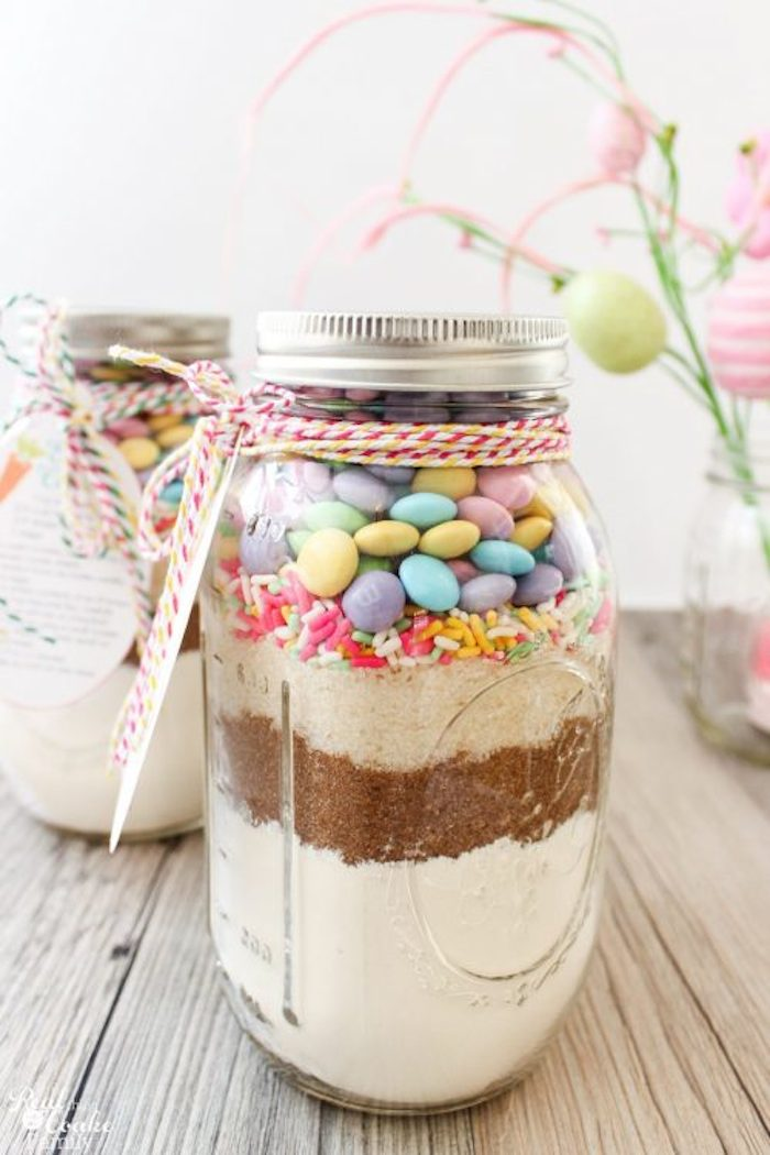 Easter Cookie Mason Jar from  Real Coake