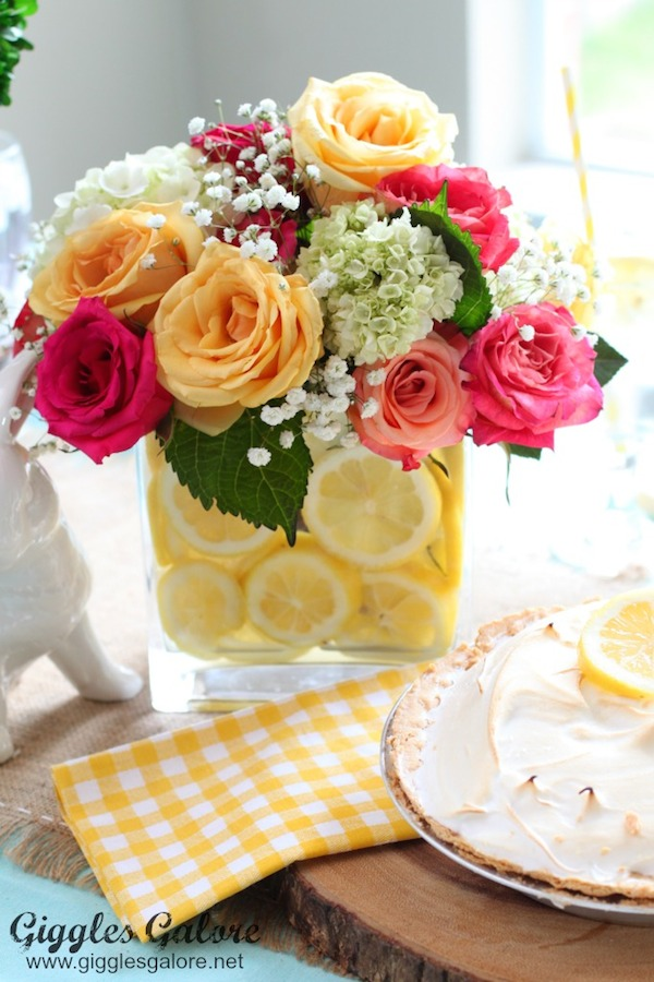 Spring and Lemon Floral Arrangement from  Giggles Galore