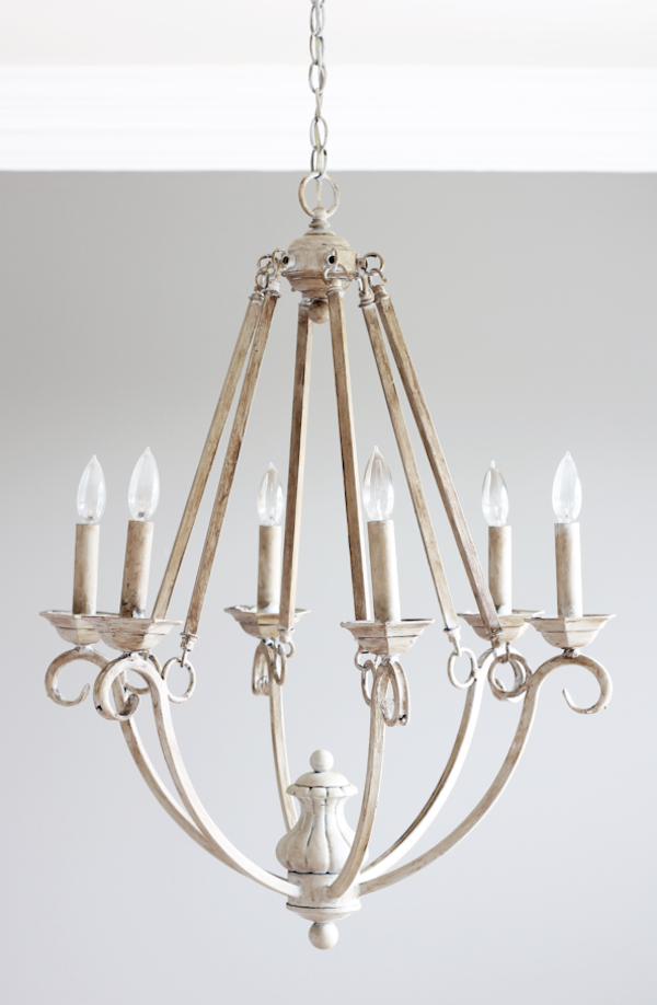 DIY Chalk Paint Chandelier from Life on Southpointe Drive