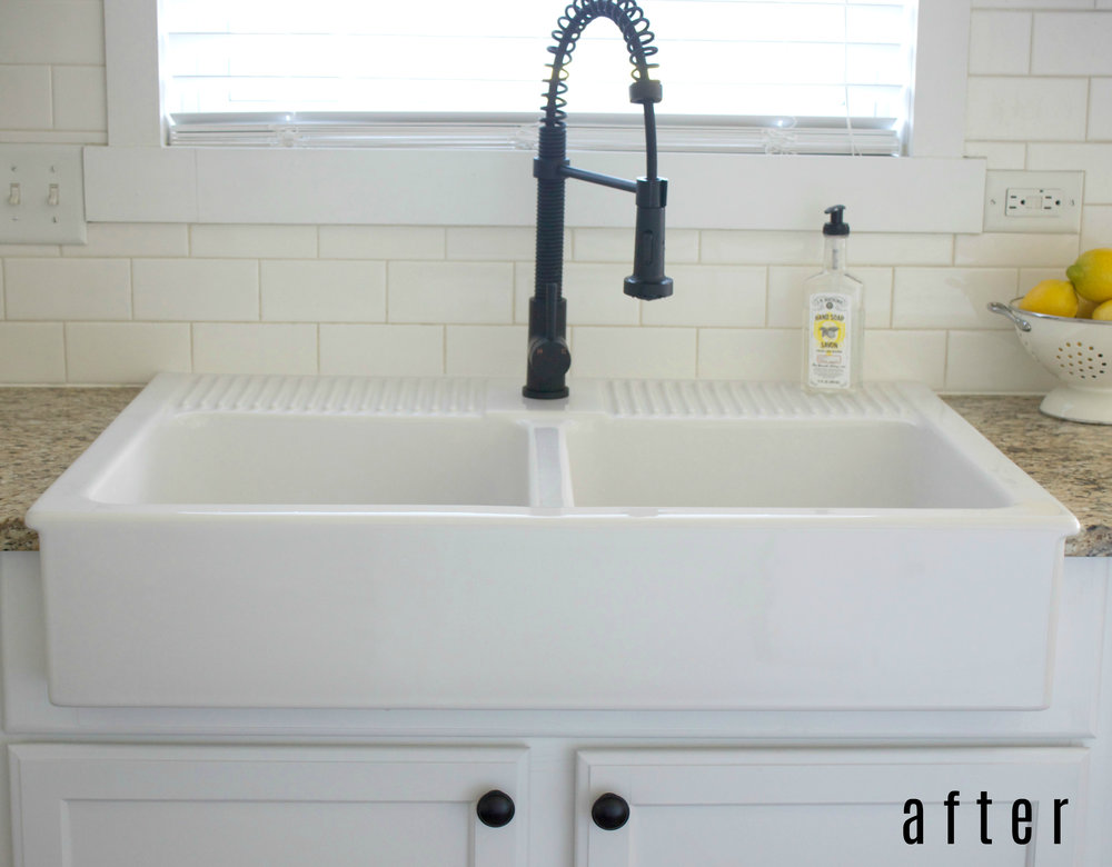 Above Mount Farmhouse Sink Colors, Install Farmhouse Sink Existing Cabinets