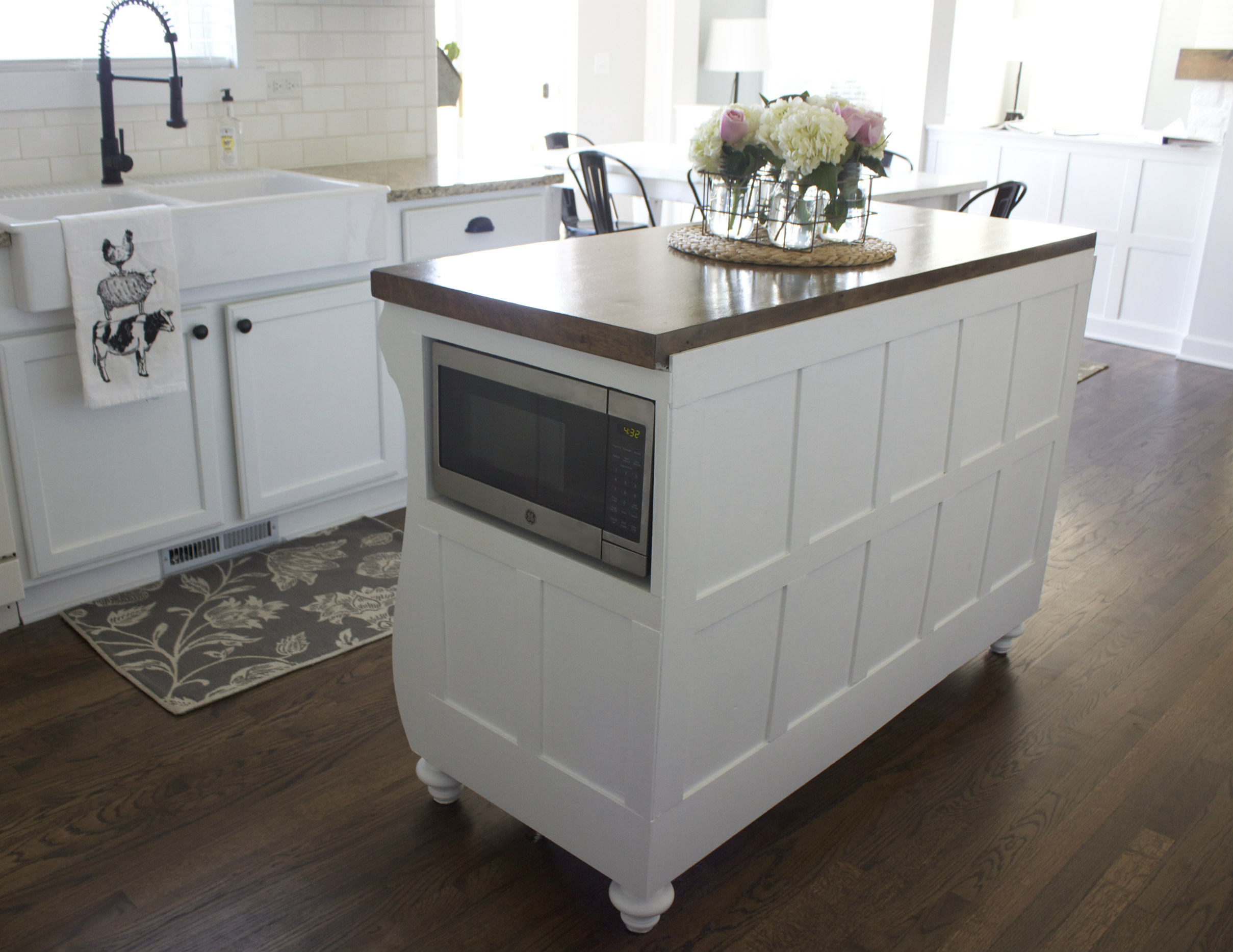 Adding A Microwave In Your Kitchen Island — Colors and Craft