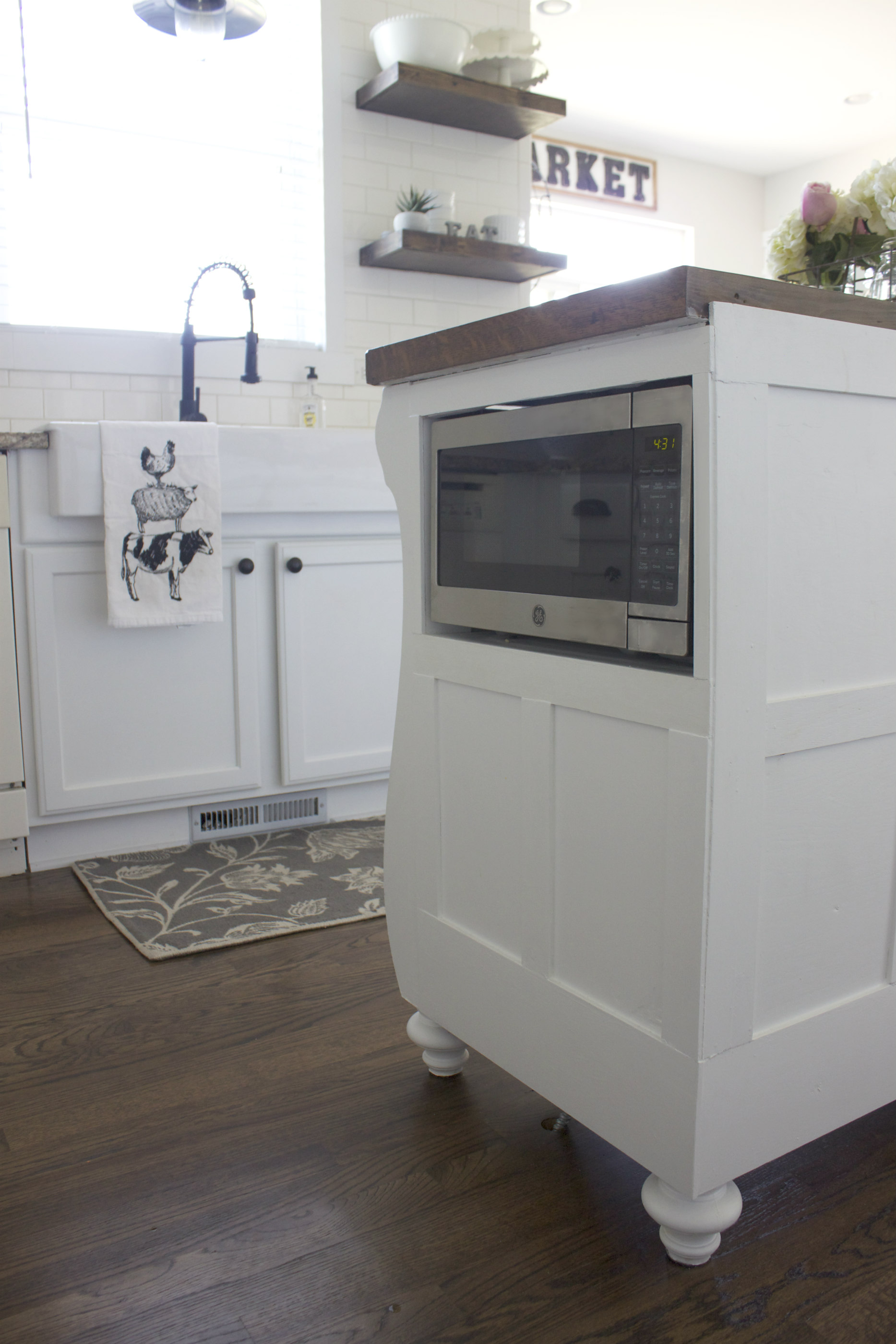 Adding A Microwave In Your Kitchen Island Colors And Craft