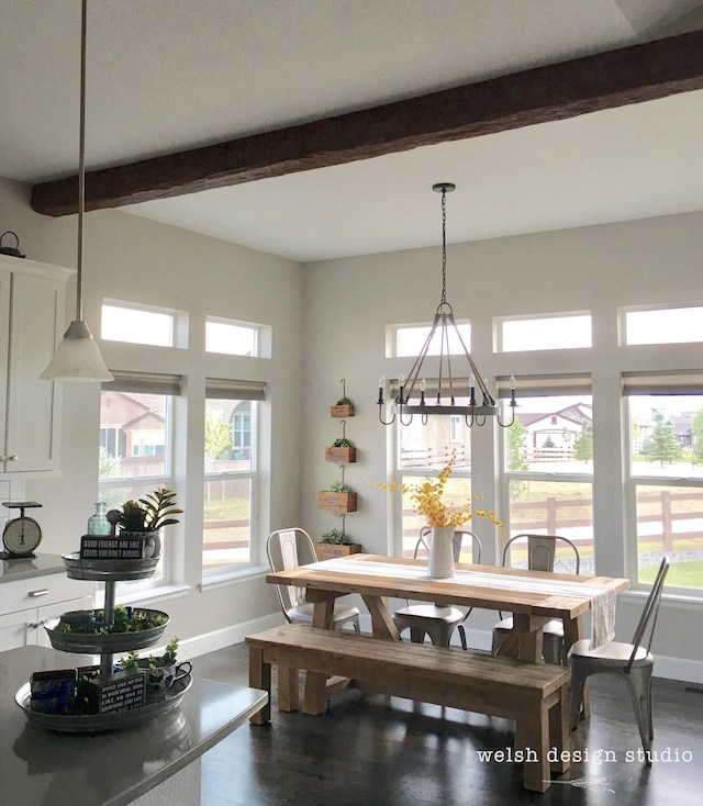 Faux Wood Beam Install from  Welsh Design Studio