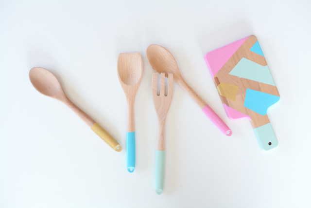 DIY Painted Utensils from  Run to Radiance