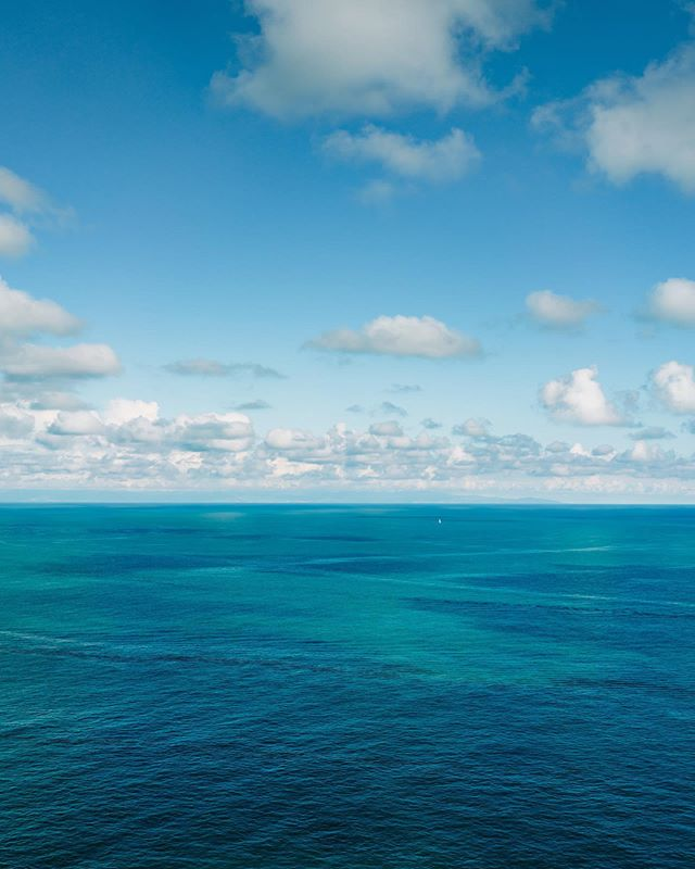 To put the vastness of this view in perspective, the tiny white dot is a sailboat. What's your favorite summertime view?