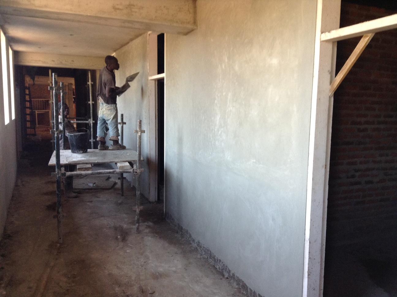 Plastering Hallways - April 2016