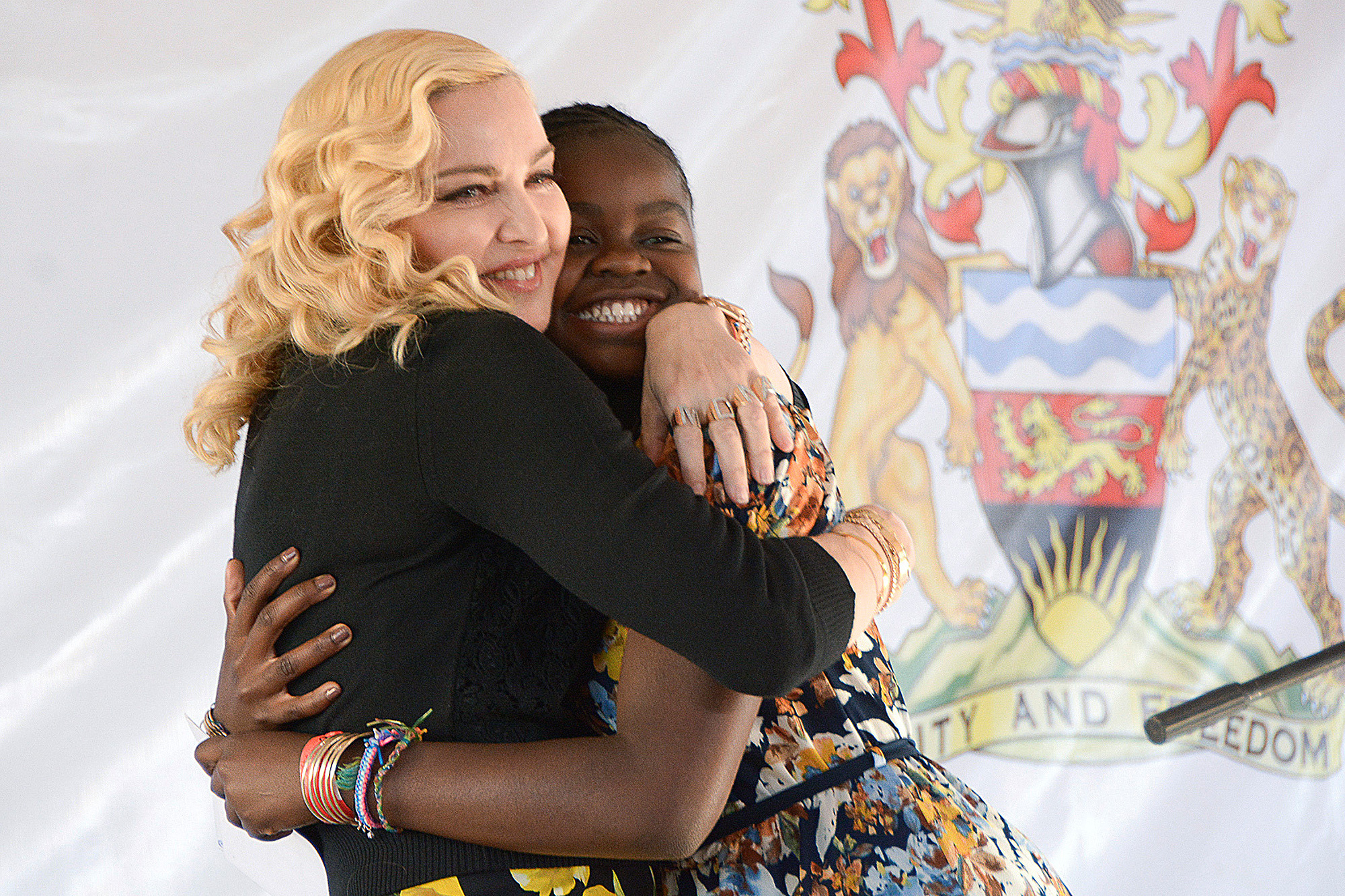 Mercy James and Madonna at the Opening Ceremony