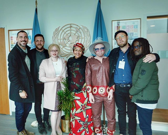 "From #Tribeca to the UN! 🌐 While in New York for the premiere of ""Lazarus"" 🎞 Lazarus Chigwandali stopped by the @unitednations with Ikponwosa Ero to speak with Deputy Secretary-General Amina Mohammed. They discussed a call to action 🗣 to prevent human rights abuses against people with albinism in southeast Africa. 🙏🏾🌍 #UnitedNations #humanrights4all #albinism"