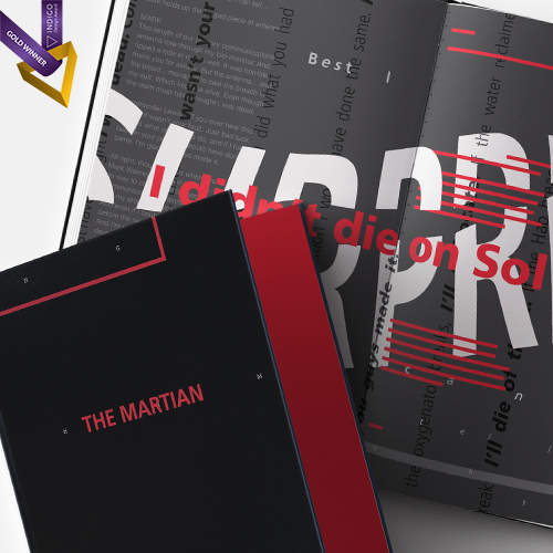 The Martian, Movie Script Book  Editorial Design, 2017