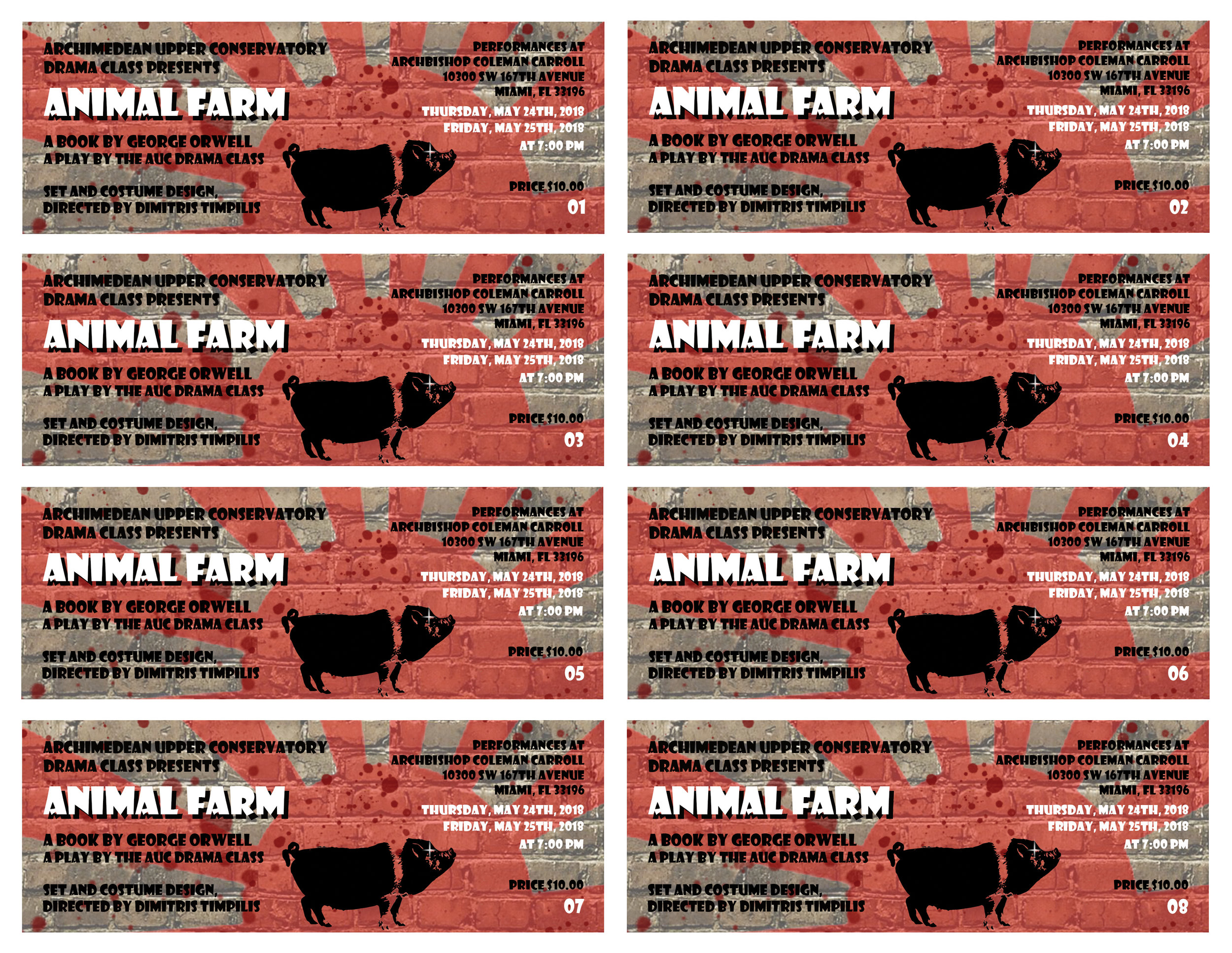 2018 Animal Farm adaptation of the same titled book by George Orwell Tickets 1-8.jpg