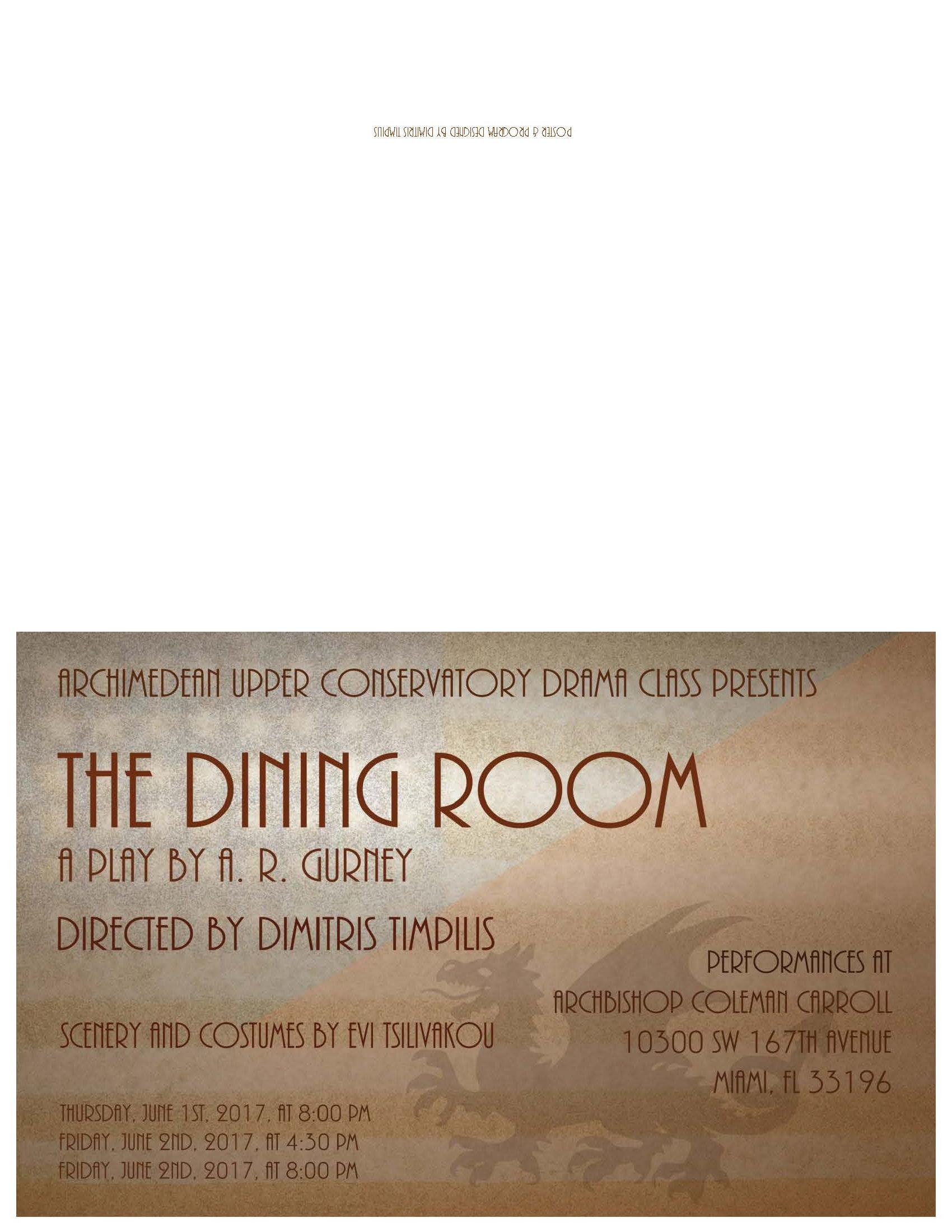 2017 The Dining Room by A. R. Gurney Jr. Program A.jpg