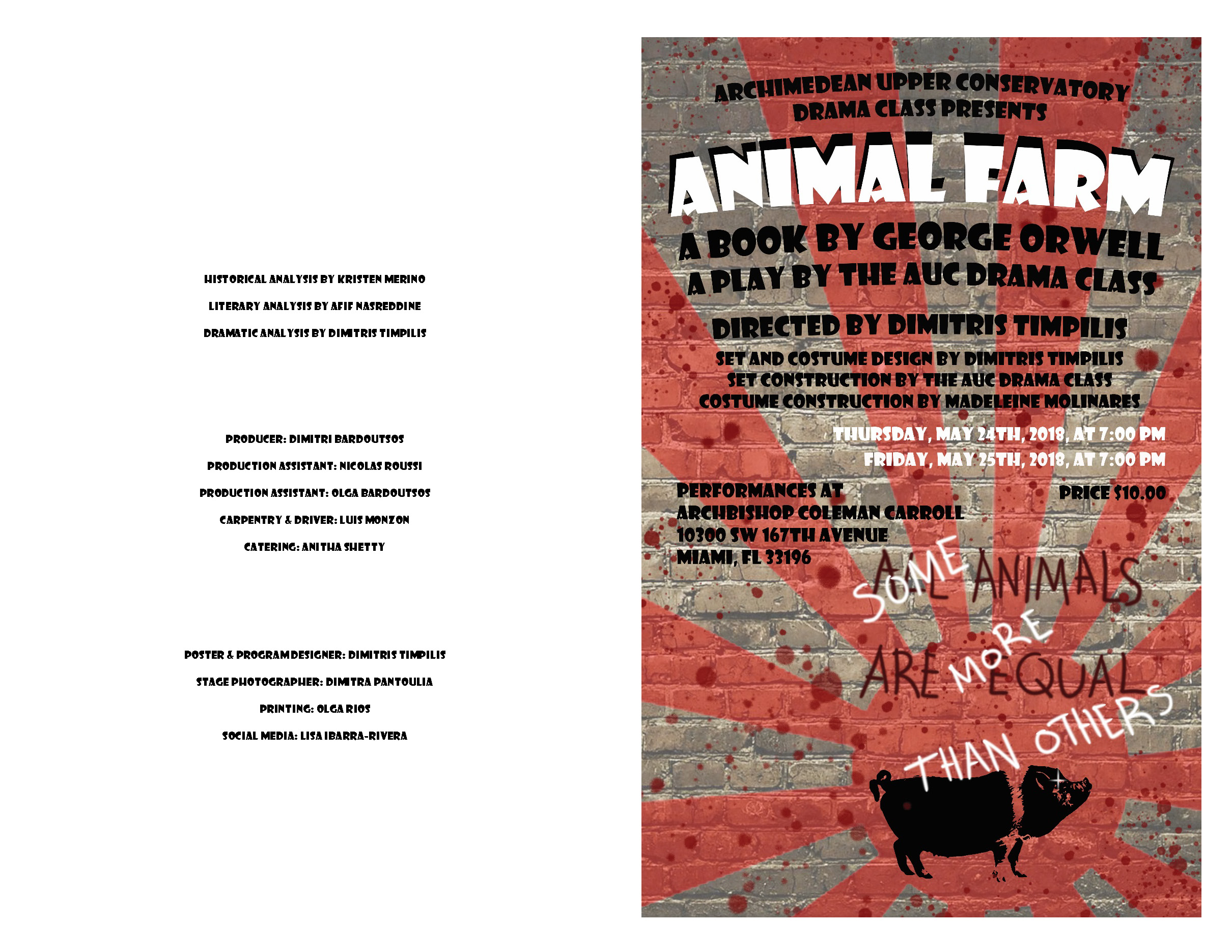 2018 Animal Farm adaptation of the same titled book by George Orwell Program A.jpg