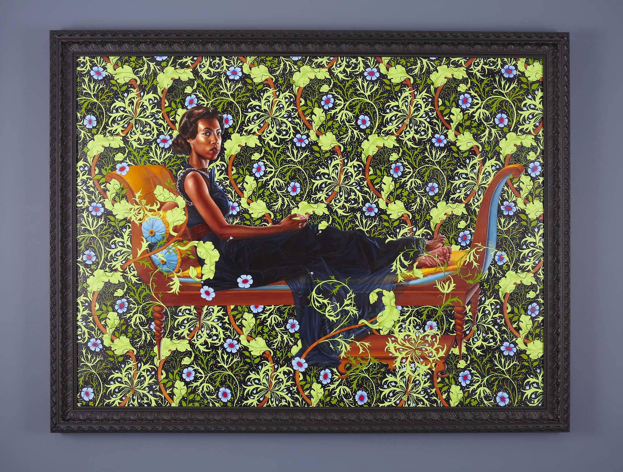 Kehinde Wiley,  Juliette Recamier , 2012