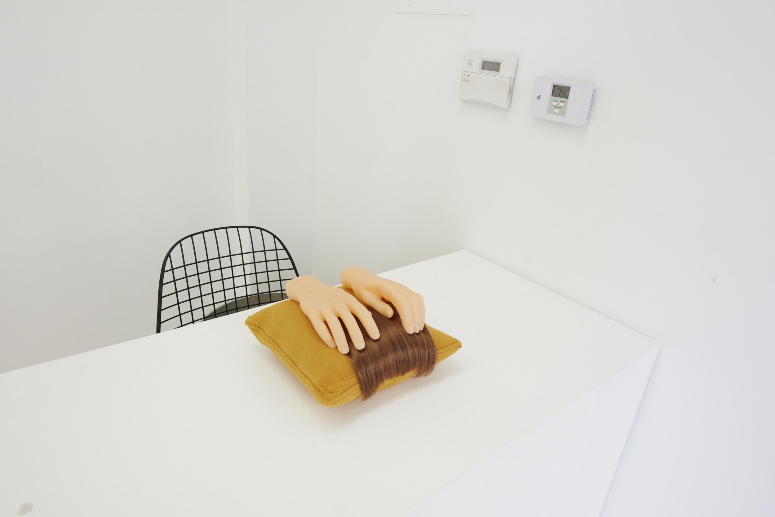 Whitney Vangrin,  Lay,  2014   The Pleasure Principle , 2016, installation view