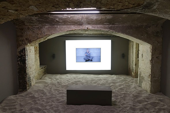 Josh Kline,  Crying Games , 2015   The Present in Drag , installation view, 2016  KW Institute for Contemporary Art, Berlin, GE