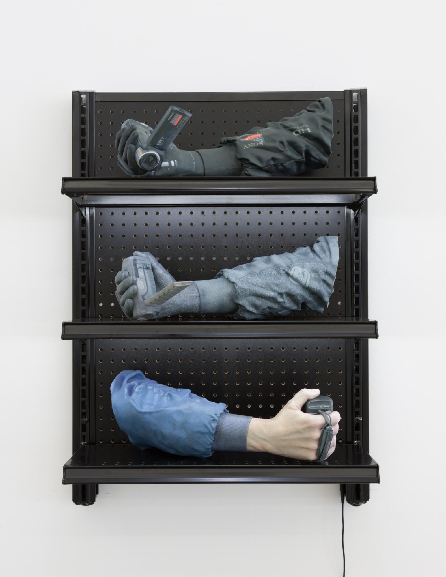 Josh Kline,  Facial Incarceration Software , 2015-16, installation view