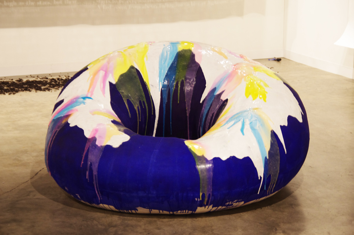 Nathalie Djurberg,  Donut with Purple and White Glaze , 2013