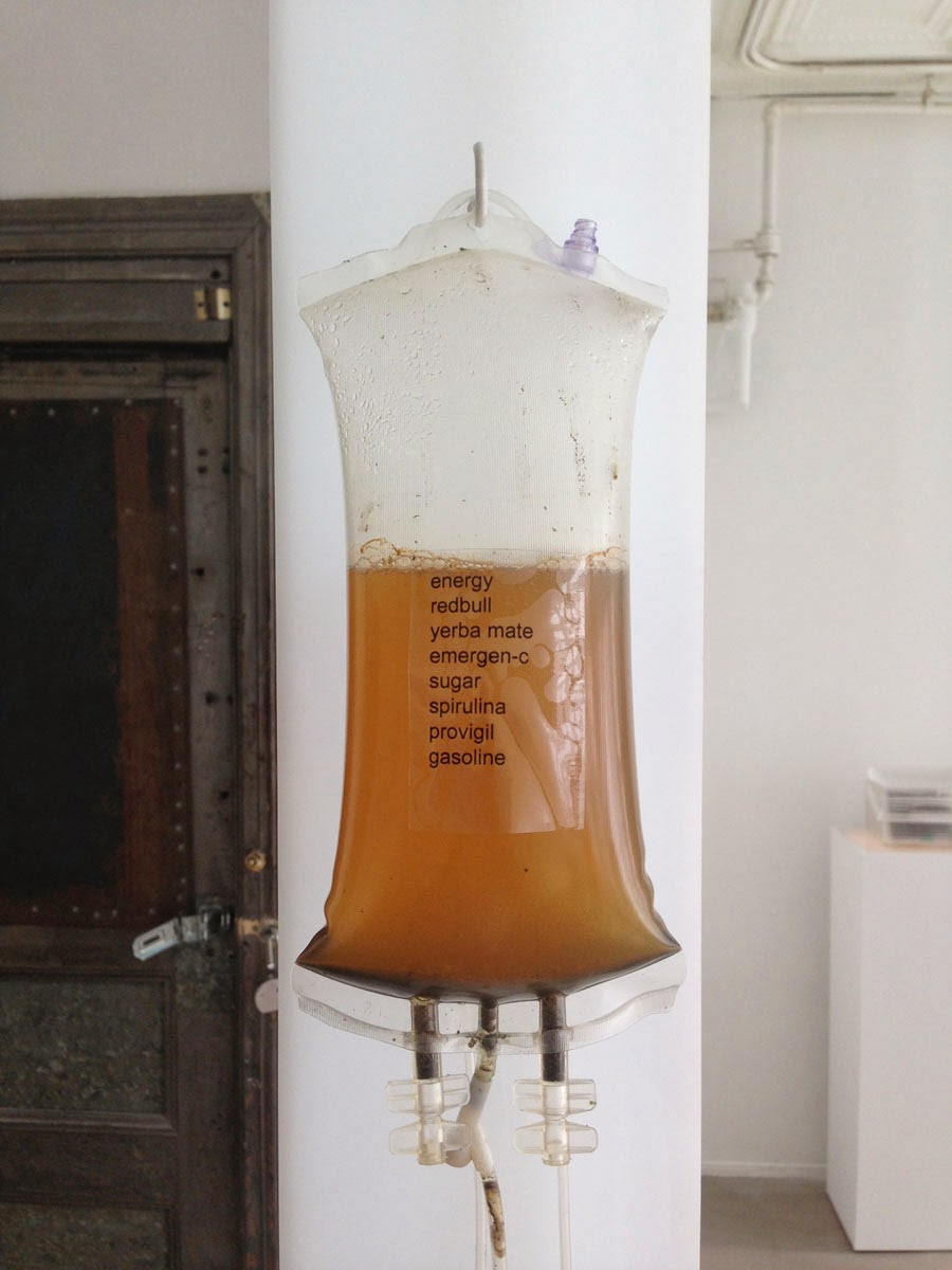 Josh Kline,  Energy Drip , 2013 (installation view)