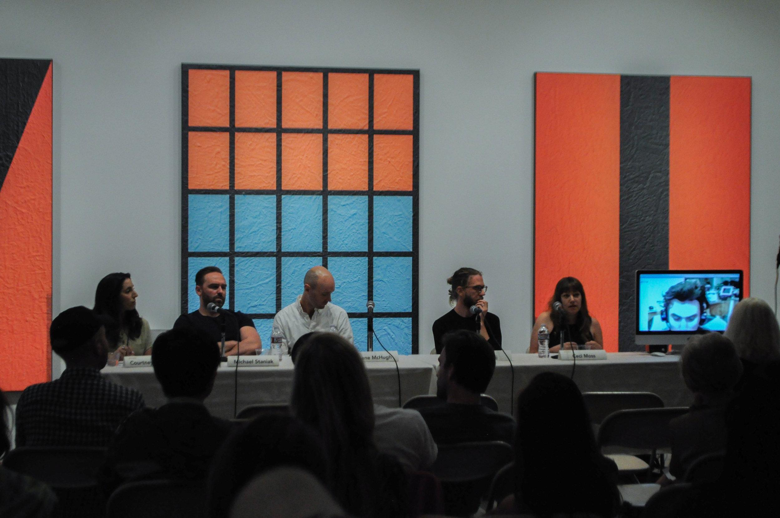 (from left to right): Courtney Malick, Michael Staniak, Gene McHugh, Jeff Baij, Ceci Moss, Ryder Ripps