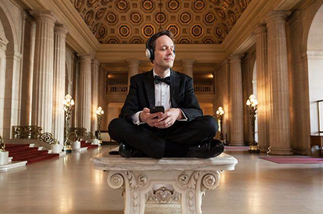 Jake Heggie in San Francisco's War Memorial Opera House.