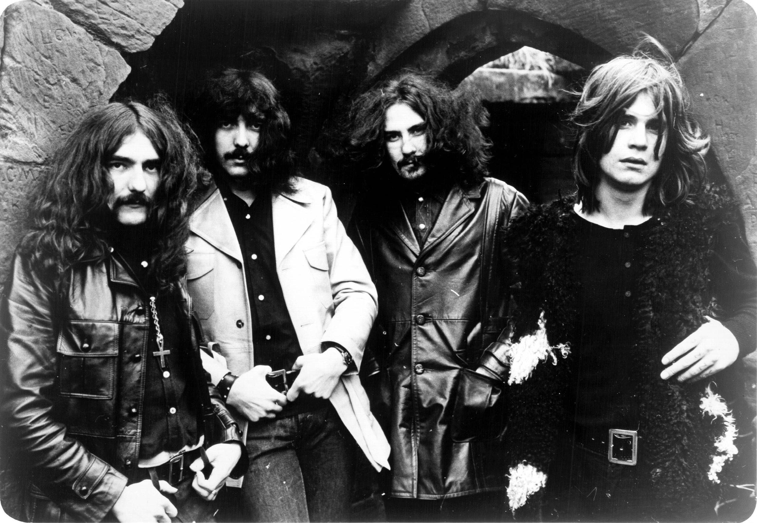 Black Sabbath circa 1970. L to R: Geezer Butler, Tony Iommi, Bill Ward, Ozzy Osbourne.