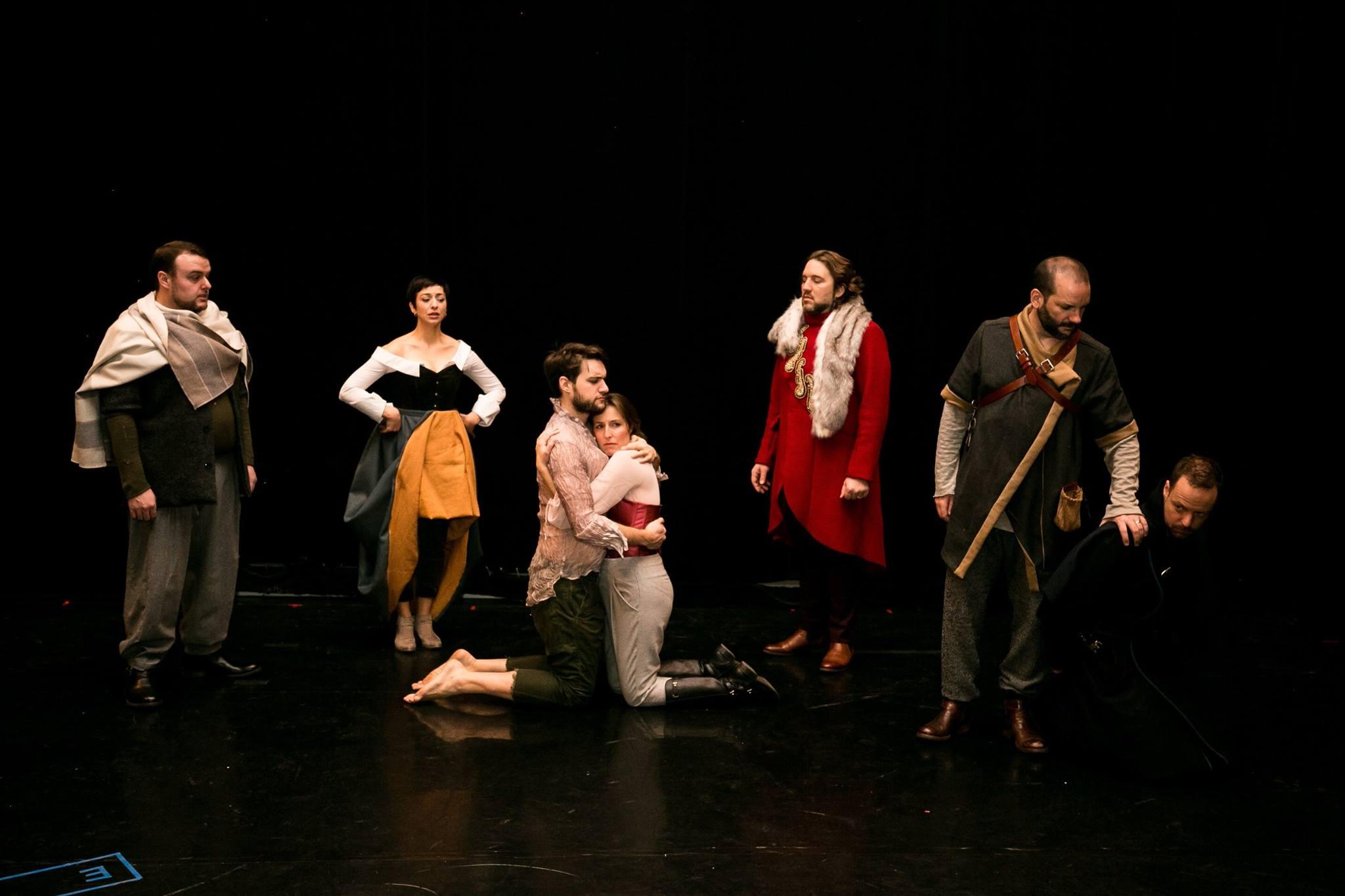 The cast of Opera Lafayette's  Léonore, ou L'amour conjugal:  (L to R)  Keven Geddes , Pascale Beaudin,Jean-Michel Richer,Kimy Mc Laren,Alexandre Sylvestre, Tomislav Lavoie, and Dominique Côté.