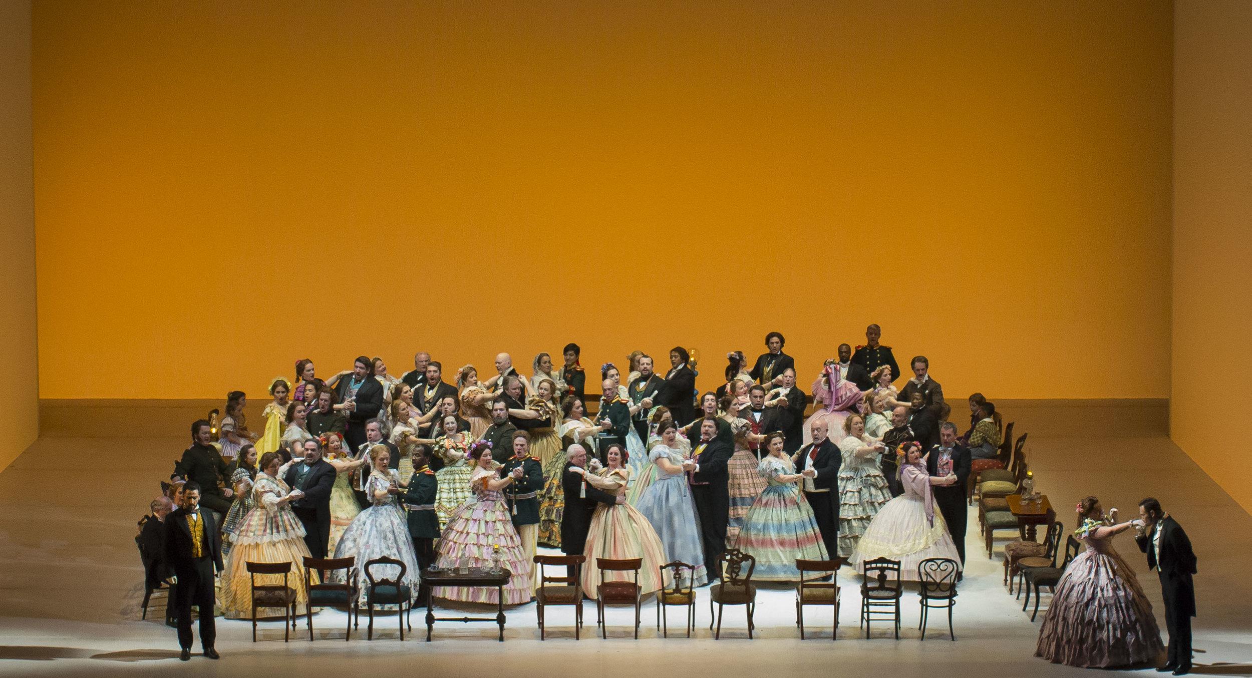 The Robert Carsen production of Eugene Onegin at the Lyric Opera of Chicago.  Photo: © Todd Rosenberg