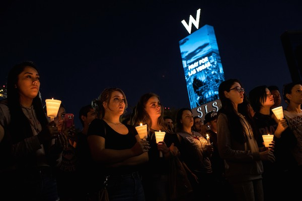 When are mass shootings acts of terrorism? Photo by   Drew Angerer/Getty Images