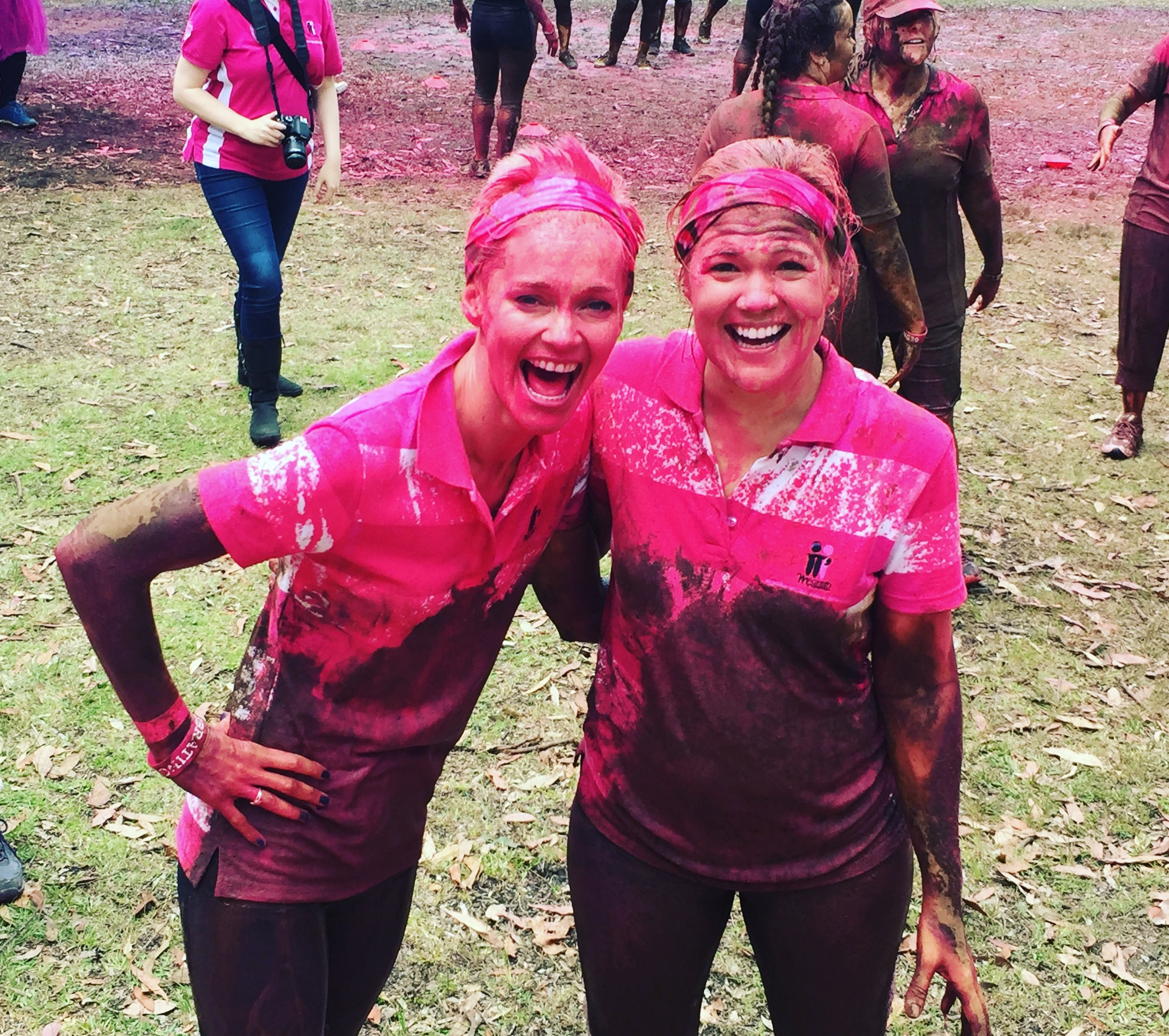 Getting pink and dirty with Sarah for Miss Muddy.