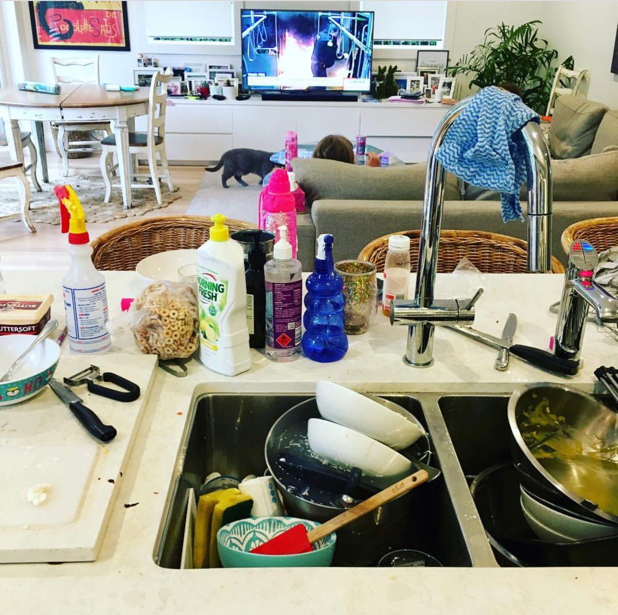 My sink always looks like this...