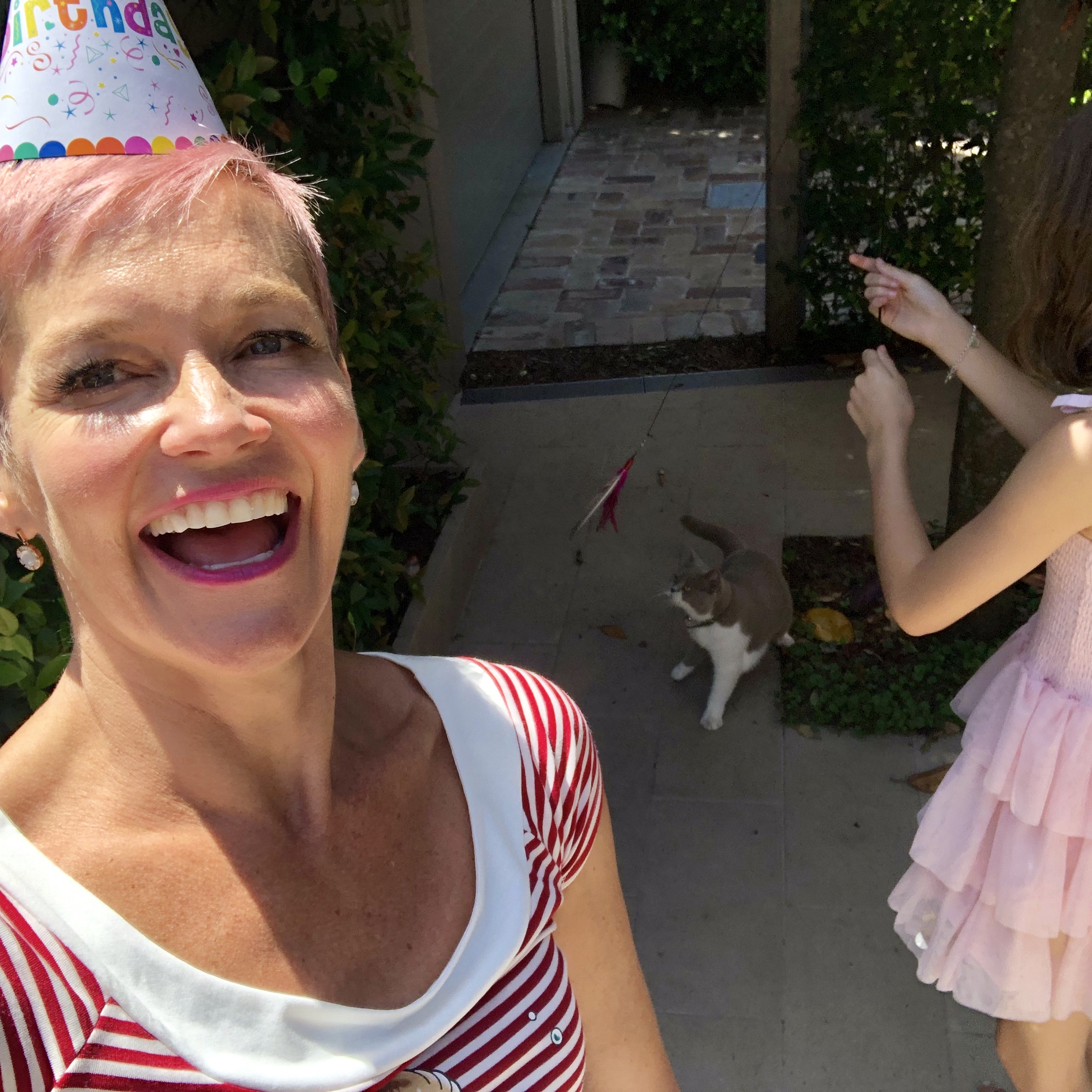 Me hosting a 'cat party' for Violet! ( She has turned two)