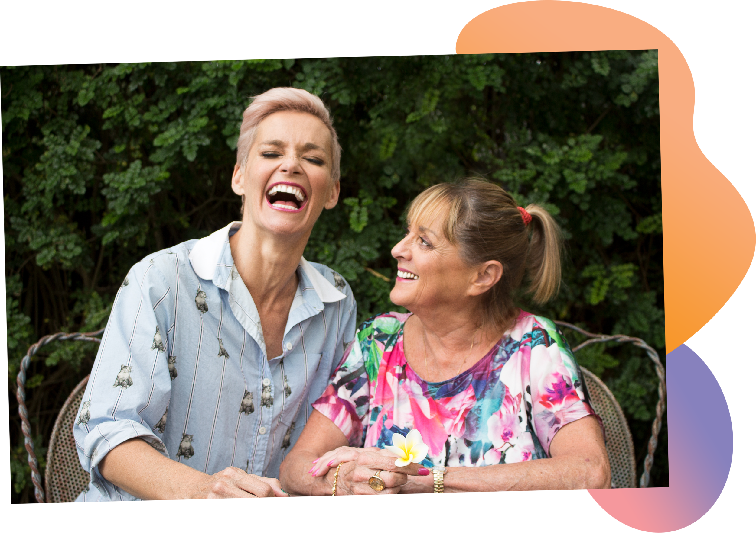 One Fat Lady and One Thin Lady - The hilarious podcast by best friends Jessica Rowe and Denise Drysdale.