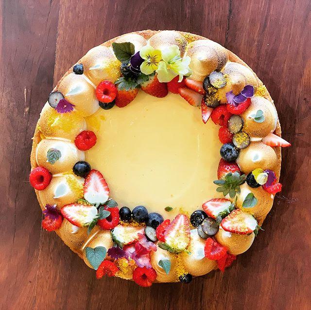 Lemon meringue tart. $50 pre order 24 hours. #thebreadsocialtweed