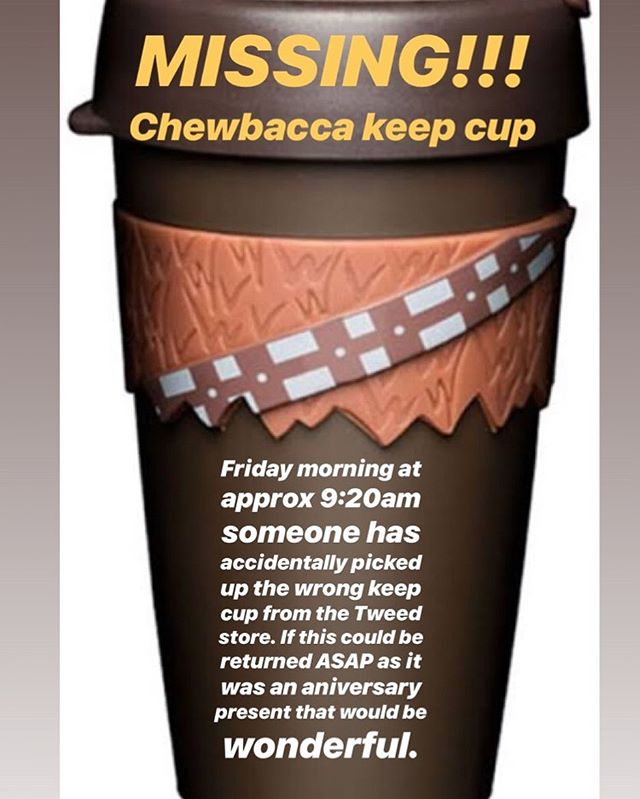 Help us solve the case of the missing keep cup!!! #cupgate