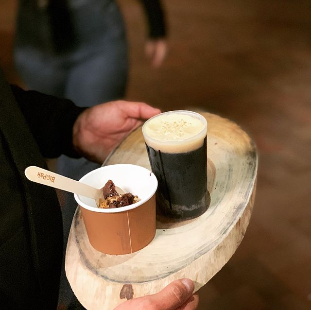 Counter culture #3 stout paired with our Malt ice cream, beer glaze and chocolate wafer... @stoneandwood @threeblueducks @thefarmatbyronbay #northernriversfood #byronbaylife #thebreadsocial