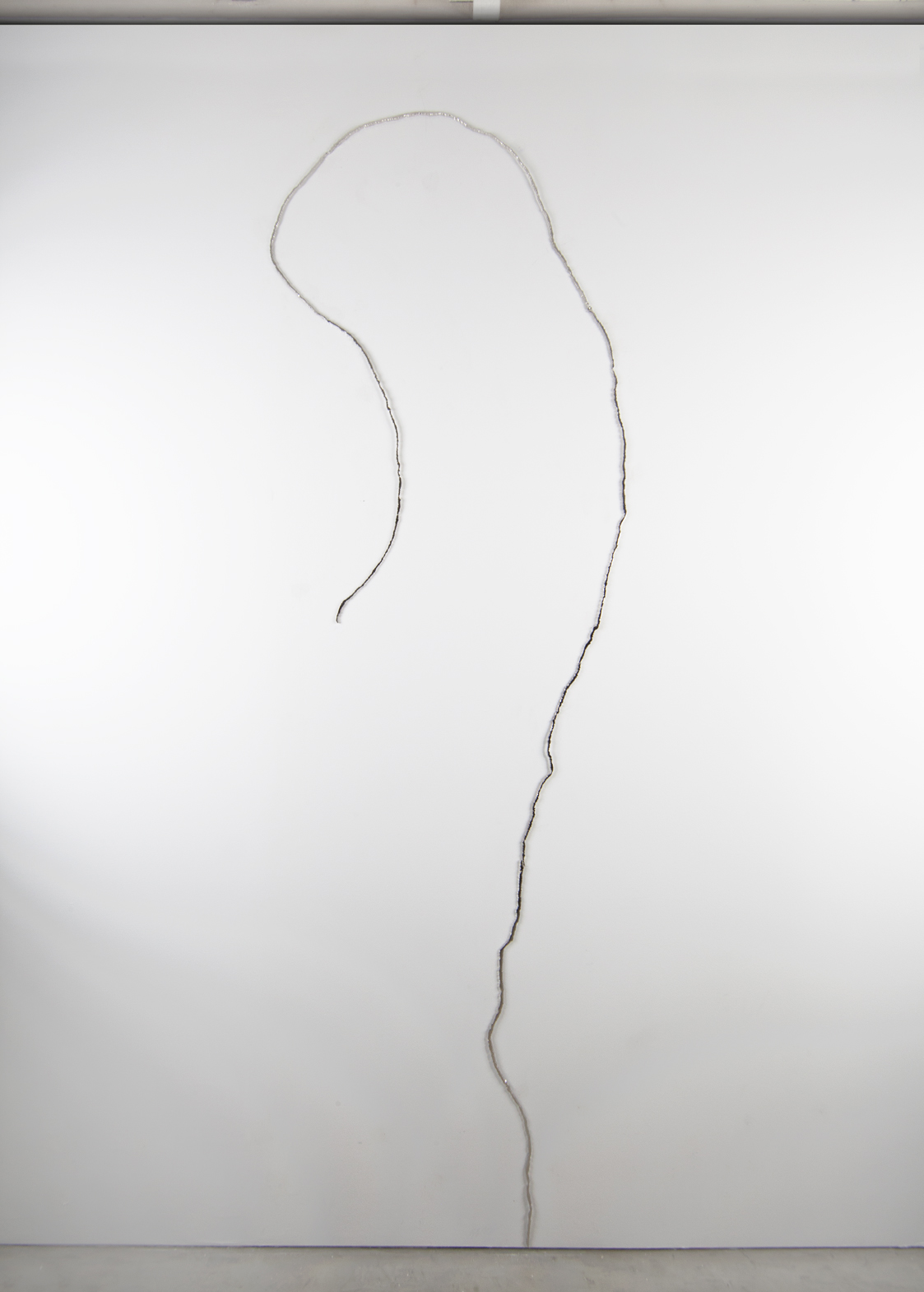 MIsteriosa, Nickel plated and mirror polished steel, 118 X 36 X 1/4 inches