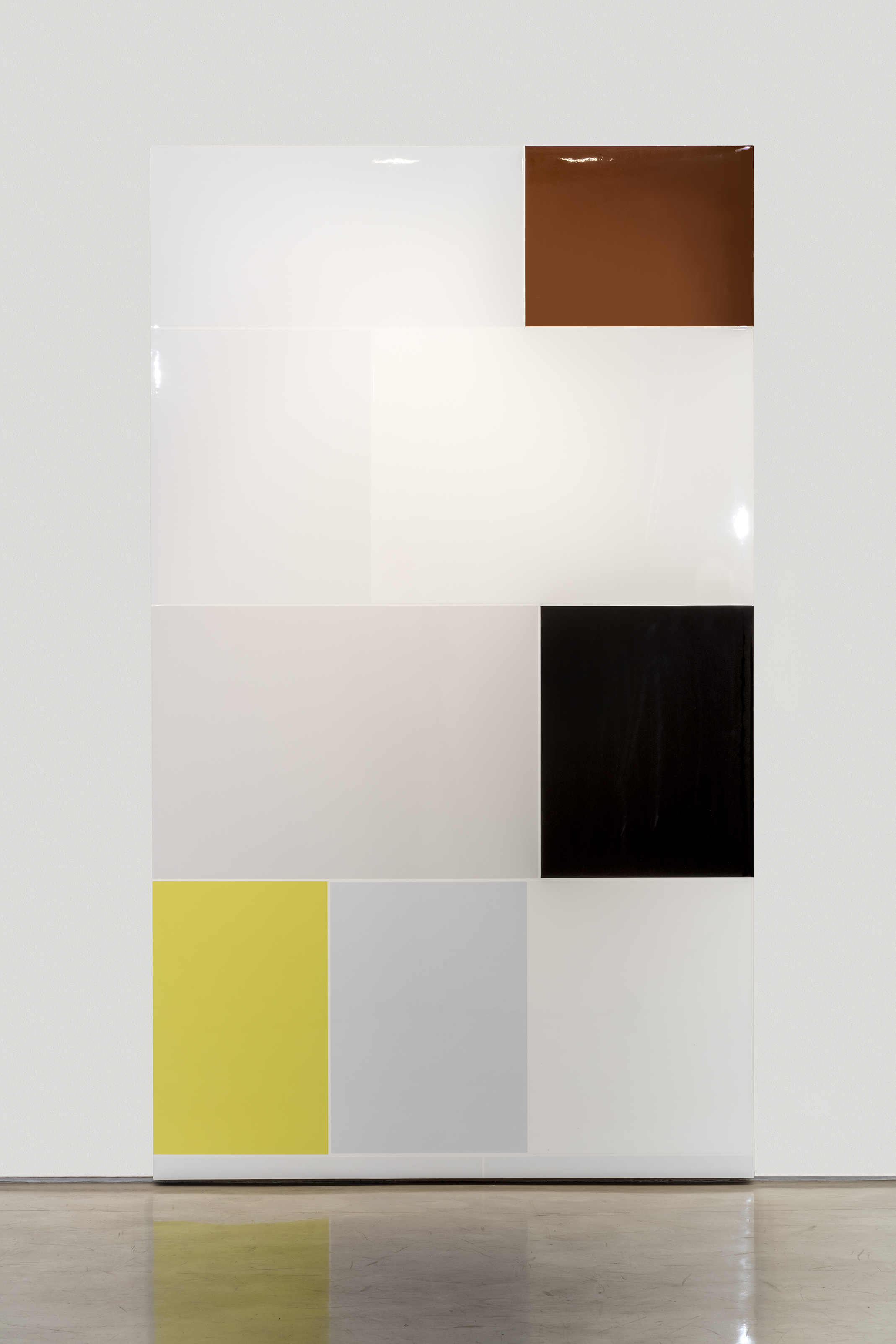 Confession, 2015Urethane on gesso on cotton canvas96 x 56 inches -