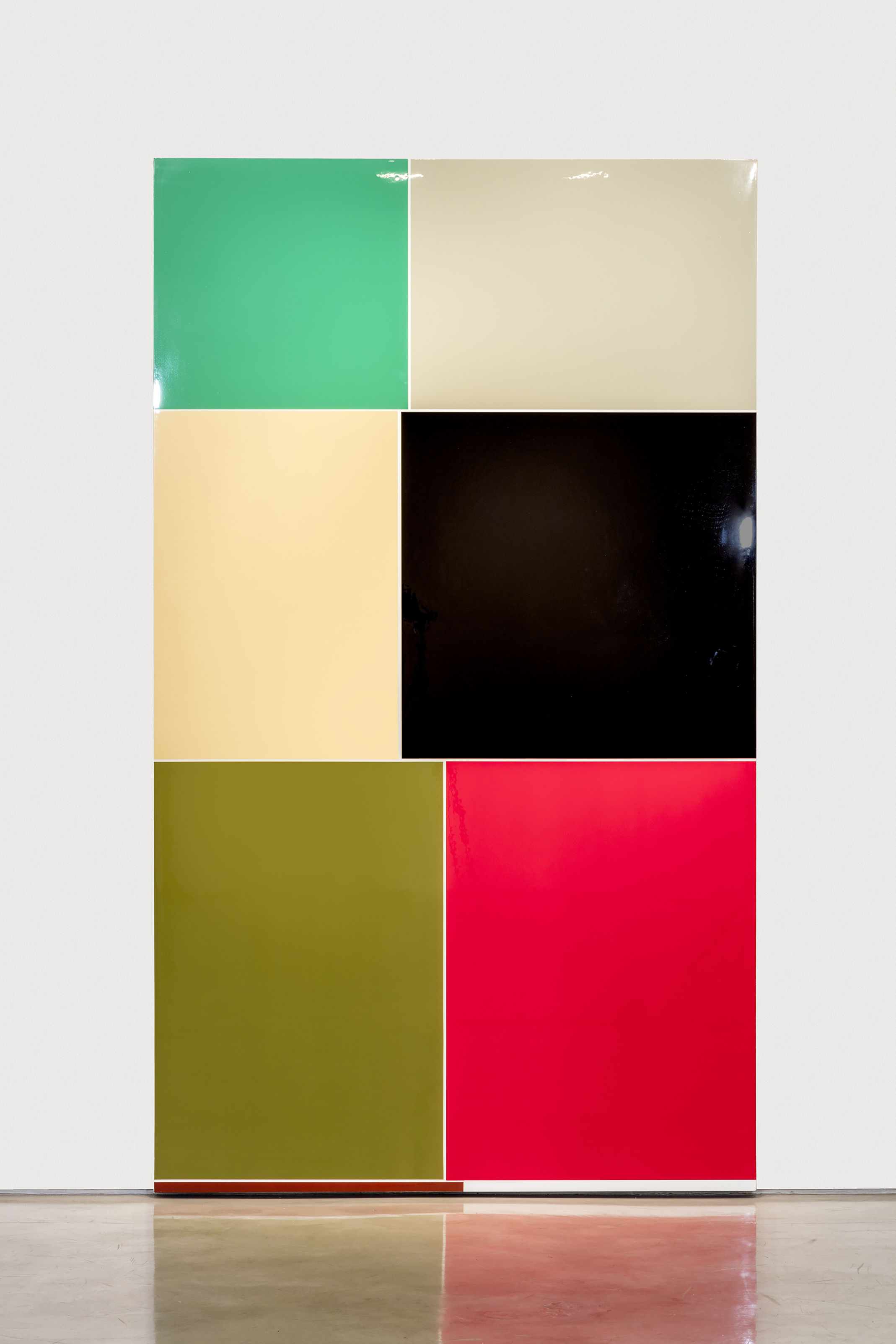 Finis origine pendet, 2016Urethane on gesso on cotton canvas96 x 56 inches -