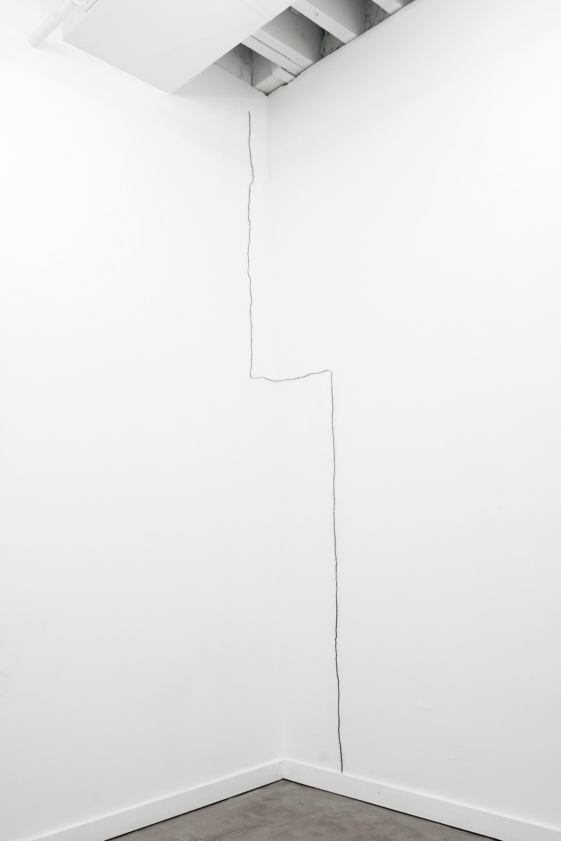 .333, 2014. Enamel on steel, 100 x 18 x 18 x .25 inches -