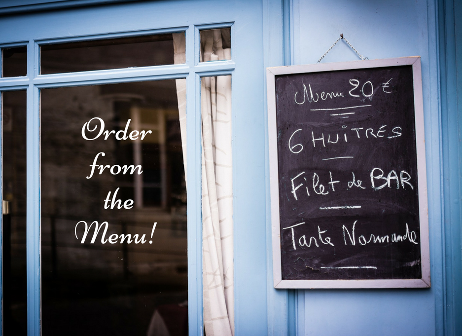 order from the menu